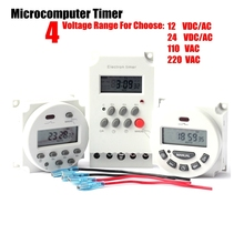 12 24 110 220V Microcomputer Control Time Switch Digital LCD Electronic Programmable Timer Irrigation Pump Time Controller цена и фото