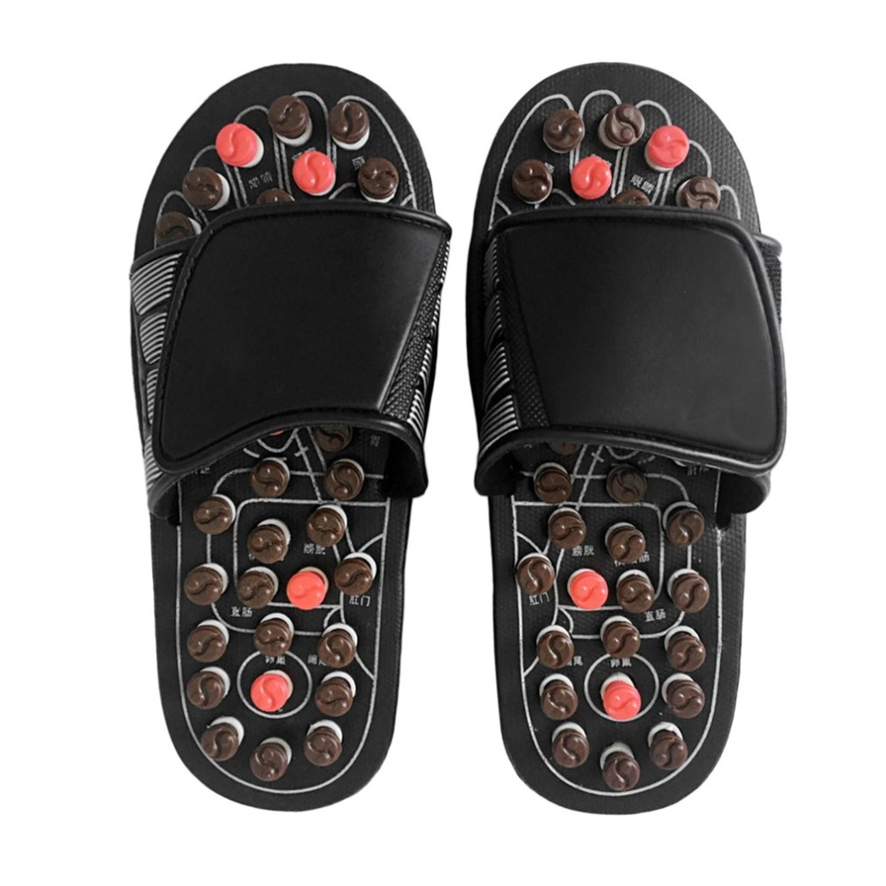 Foot Massage Slippers Health Care Shoes Reflexology Massage Sandals Elderly Feet Health Care Product Pebble Stone Massager Gifts the treatment of erectile dysfunction prostate supplement health care slippers