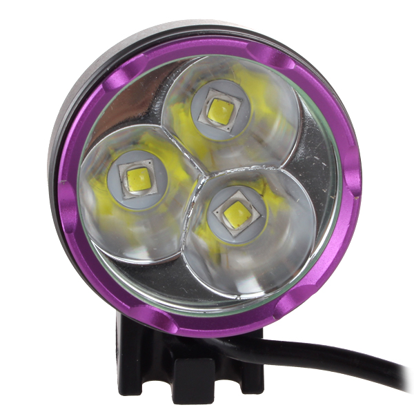 3 x XM L2 U2 1A LED 2100Lm Bicycle Headlights Waterproof Mini Bicycle Light 7000mAh Battery Pack in Bicycle Light from Sports Entertainment