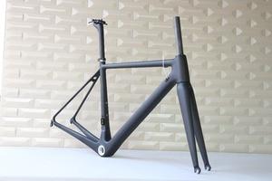 Image 2 - T1000 カーボンフレームフルカーボン繊維フレーム、サイズ、 48,50 、 52,54 、 56 58 と 60 センチメートルカーボンロードバイクフレーム FM066