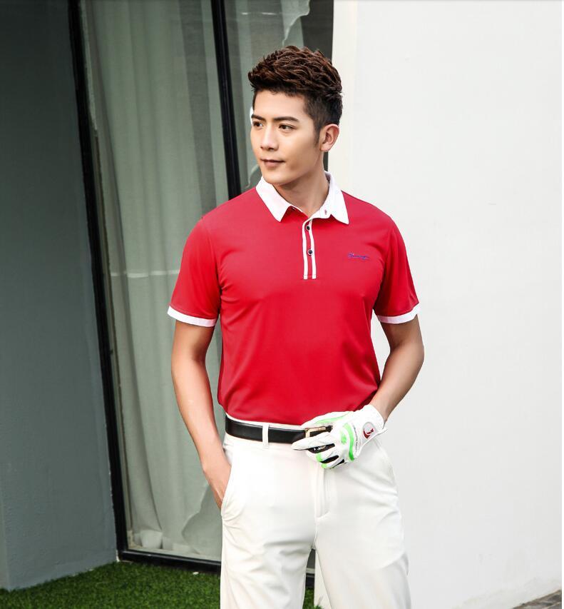 Camisa de Golfe dos Homens do Esporte dos Homens do Esporte do Homem das Camisas de Lapela do Botão de Manga Homem Camisas de Lapela Botão Manga Curta Secagem Rápida Respirável M-2xl 2020 do das