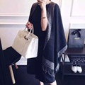 Echarpe Luxury European Suit Winter Black Restore Ancient Ways Vent Shawl Solid Color Scarf Colour Cloak Shawl Ponchos Capes