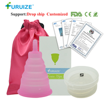 Newest Foldable Copa Menstrual Cup Reusable Feminine Hygiene Silicone Lady With Box Cloth Bag