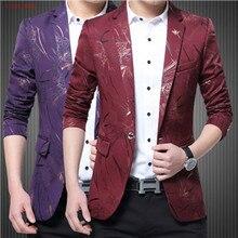 Elegant Printed Blazer Men Business Casual Suit Jacket Formal Groom tuxedos Wedding Dress Beautiful Design Men Suits Blazers 3XL