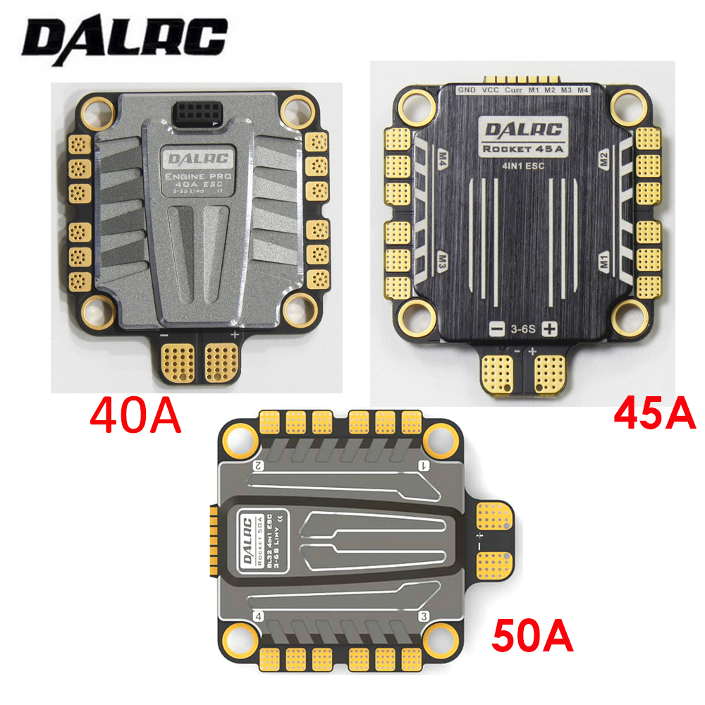 DALRC 4in1 ESC 40A 45A 50A 4 In 1 ESC Brushless 3-6S Blheli_32 LIHV DSHOT1200 Ready For FPV Racing Compatiable With F405 F722 FC