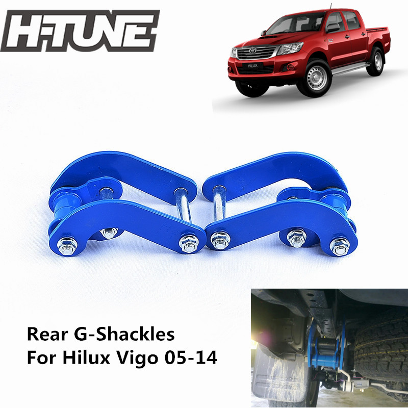 H-TUNE 4x4 Suspension Spring Rear Comfort Double G-Shackles for Hilux Vigo 2005-2014 lift kit for toyota hilux revo