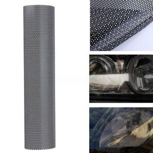 Image 2 - 107*30cm Wrap Hollow Automobile Lamp Film Grid Side Shield Headlamp Taillight Film Honeycombs Pattern Car Wrap Honeycomb Sticker