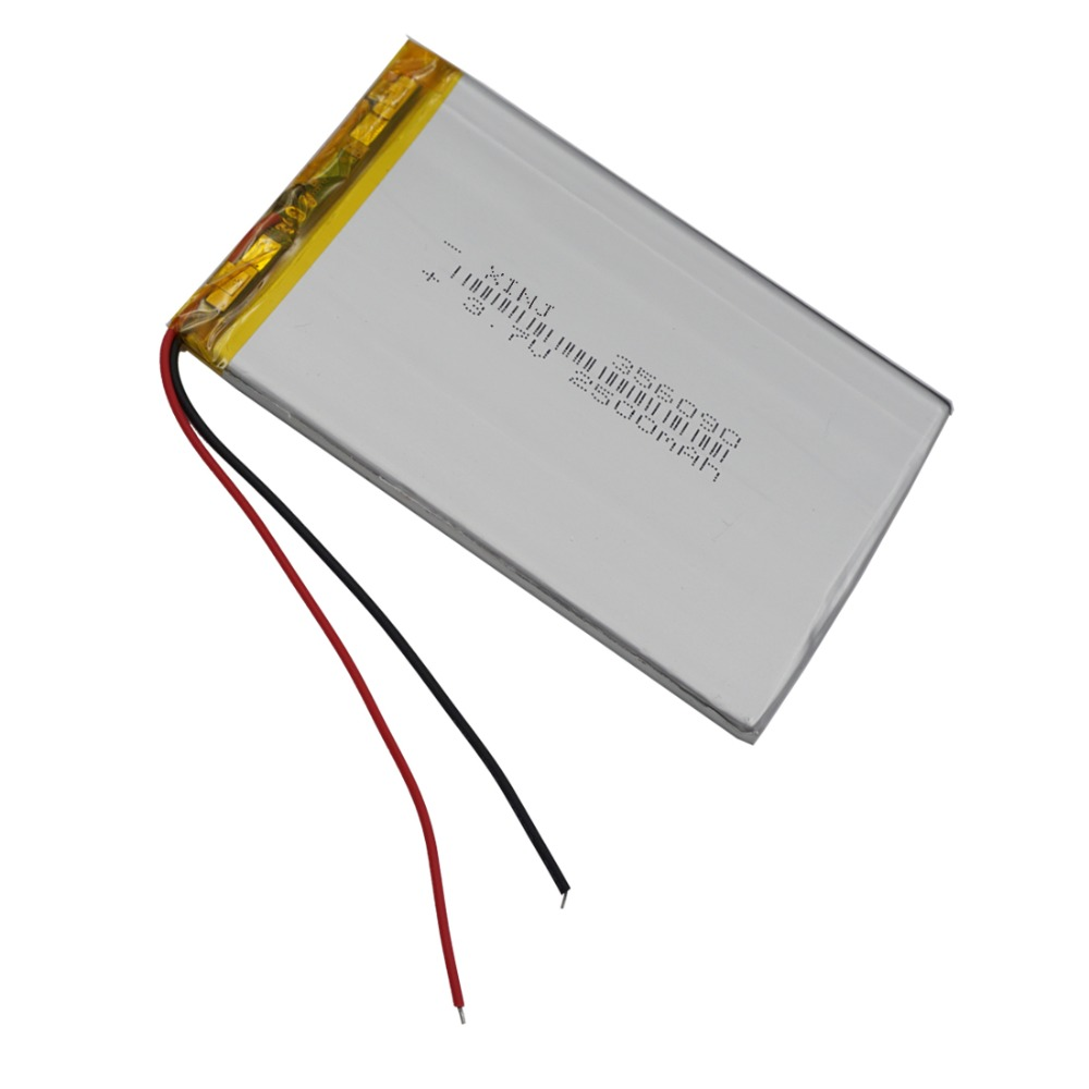 XINJ <font><b>3.7V</b></font> <font><b>2500mAh</b></font> Lithium Polymer <font><b>lipo</b></font> <font><b>Battery</b></font> Li ion 356090 For Plate PAD phone Set tv box E-book MID Portable DVD Tablet PC image