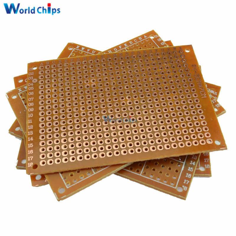1 pièce bricolage Prototype papier PCB carte universelle 5*7 cm simple face carte d'extension