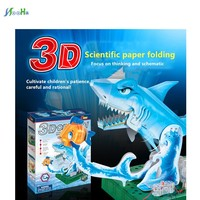 3d Shark Science Laboratory Tool Diy Toys Experiment Teaching Origami Model