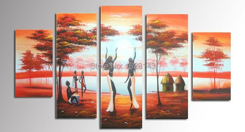 Modern landscape canvas oil painting hand made indian - Wall pictures for living room india ...