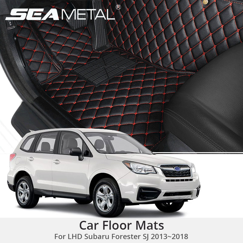 For LHD Subaru Forester SJ 2018 2017 2016 2015 2014 Car Floor Mats Custom Rugs Auto Interior Foot Mat Accessories Car-styling