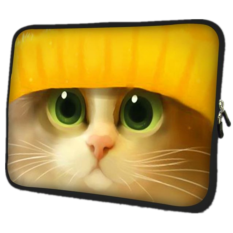 7.9 10 11.6 13.3 15.4 17.3 inch Cat laptop bag tablet sleeve case with handle PC handbag 14.4 15.6 computer notebook cover