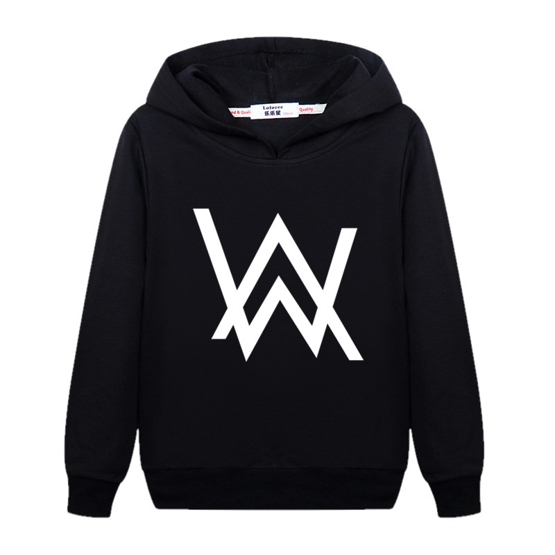 Fashion DJ Master Boy Sweatshirt Alan Walker Children Hoodie Teen Girl Cotton Long Sleeve Pullover Kid AW Printed Clothes Music(China)