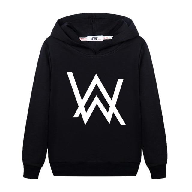 Fashion DJ Master Boy Sweatshirt Alan Walker Children Hoodie Teen Girl Cotton Long Sleeve Pullover Kid AW Printed Clothes Music