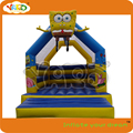 Jungle puente gorila inflable con tobogán inflable, puente inflable gorila