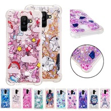 LUCKBUY Soft TPU case For Samsung Galaxy S5 S6 S7 Edge S8 S9 Plus Note 8 Butterfly Unicorn Owl Liquid Glitter Quicksand Case