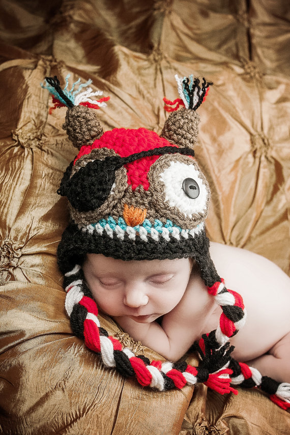 Dorable Patrón De Crochet Sombrero Recién Nacido Libre Fotos - Manta ...