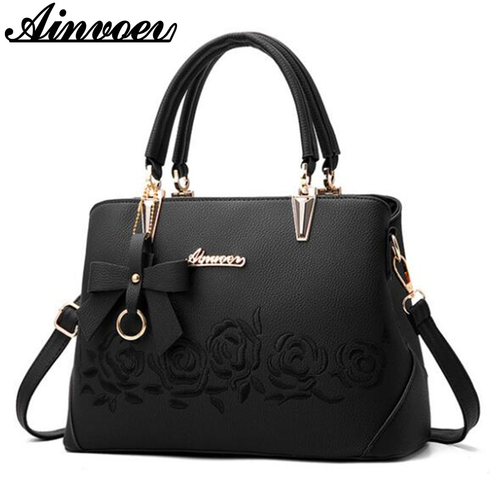 Ainvoev 2017 New Europe fashion trend bag women handbag fashion shoulder bag printing flowers crossbody bag female package a1834 2017 120cm diy metal purse chain strap handle bag accessories shoulder crossbody bag handbag replacement fashion long chains new