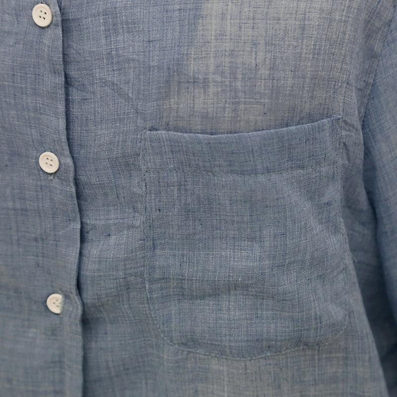Delgadas Larga Shirt Blusas Señoras Tops Mujer Blanca Chemise Blusa Mujeres Shirt 2018 Shintimes Través Manga La A Verano Ropa De Bkue white Shirt Camisa gray 4txvdqwS