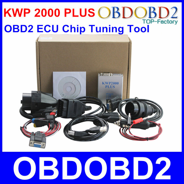 New Arrival KWP 2000 Plus ECU Flasher KWP2000 OBD2 OBDII ECU Chip Tuning Tool Read & Write ECU For Multi Brand Cars Programmer