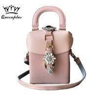 Famous Brand Diamond Box Handbags Mini Cube Brand Original Design Crossbody Bags For Women Messenger Bags