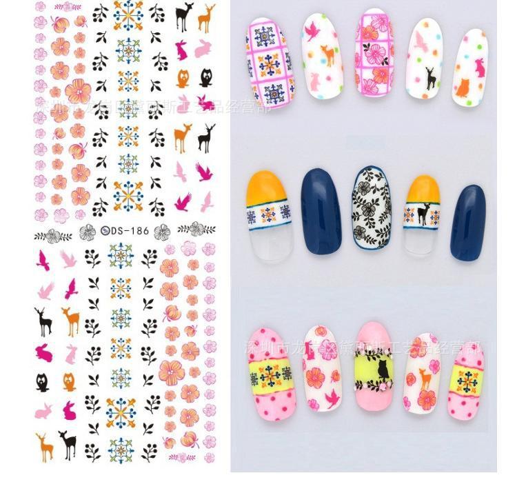 2015 korean 3d kids nail stickers water transfer cute cartoon nail ...