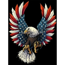 5D DIY Full Square Diamond Painting Cross Stitch American Flag And Eagle Embroidery Mosaic Rhinestone Gift