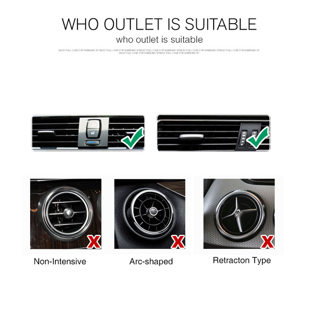 360 Adjustable Air Vent Holder Stand Car Holder For iPhone 6S 5