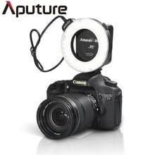 Aputure AHL-HN100 CRI 95 и светодиодной вспышки Macro Ring светильники для Canon DLSR Камера S 5D Mark II III Камера дропшиппинг