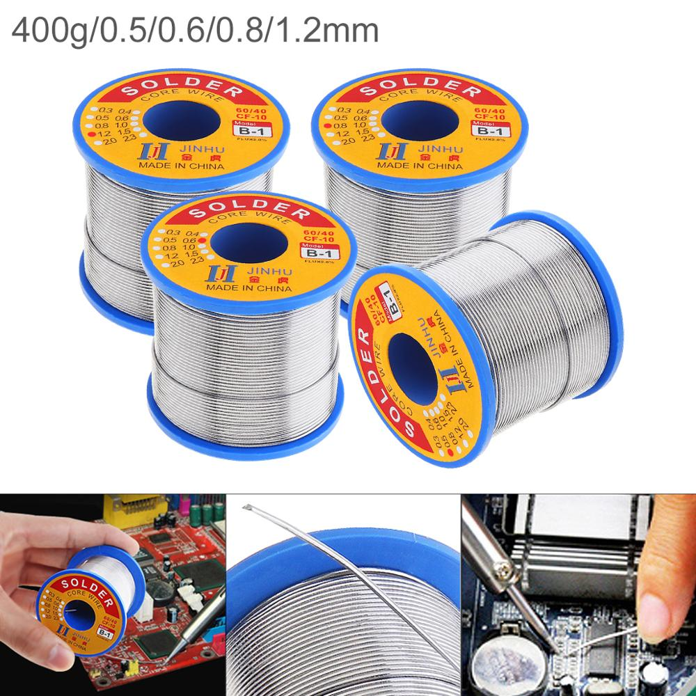 <font><b>60</b></font>/<font><b>40</b></font> B-1 400g 0.8mm 0.5-1.2mm No-clean Rosin Core Solder <font><b>Wire</b></font> with 2.0% Flux and Low Melting Point for Electric <font><b>Soldering</b></font> Iron image