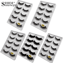 natrual 3d mink false eyelashes soft fasle lashes fluffy faux cils long make up 5 pairs/ box maquiagem