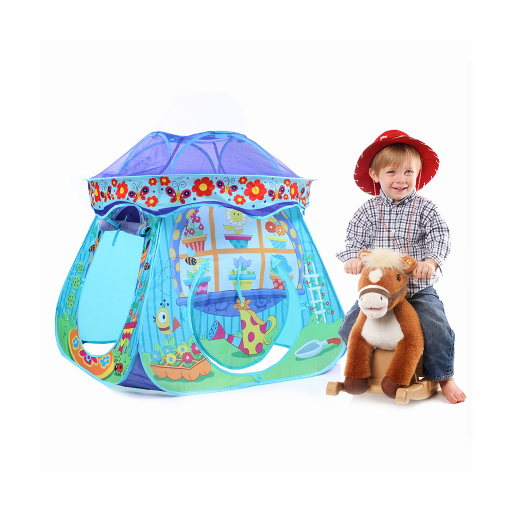 Mushroom Kids Play Hut Pink Blue Children Toy Tent Baby Adventure Game Room Indoor Outdoor Playhouse kids gift quality mushroom child tent 50 ocean balls kids game house 5 5 cm wave balls indoor