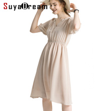 Crepe Women Dress Summer