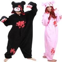 Cheap DHL Pijama Black Pink Gloomy Bear Warm Fleece Japan Anime Fashion Onesie Pyjama Animal Suit