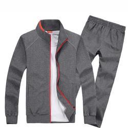2018 Демисезонный Для мужчин спортивные костюм комплект куртка + штаны тренировочный комплект из 2 частей спортивной костюм мужской набор