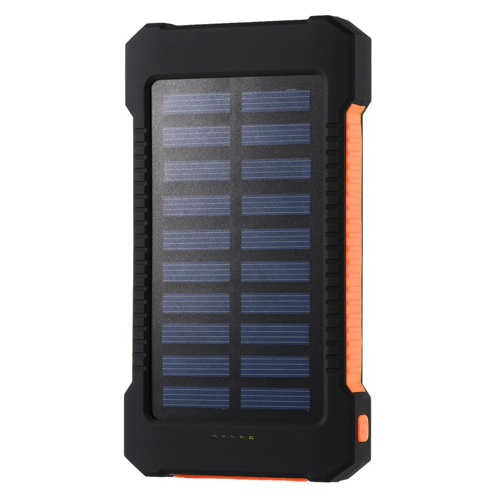 Tragbare solar power bank 30000 mah wasserdichte externe batterie-backup power 30000 mah telefon ladegerät led pover bank
