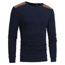 Новинка 2017 года Мужские Вязаные свитеры модный бренд свитер для повседневной носки в полоску с круглым вырезом Slim Fit Для мужчин патч конструкции пуловер Свитеры для женщин Для мужчин
