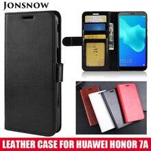 JONSNOW Wallet Leather Case for Huawei Honor 7A DUA-L22 5.45 Russia Version Phone Cover Pro AUM-L29 5.7