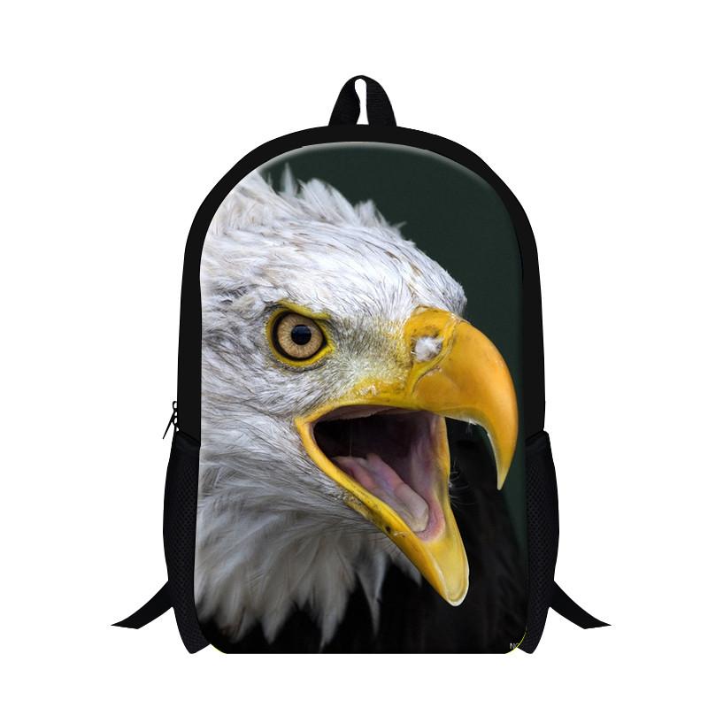 2015 New Arrival Russian Bicephalic Eagle School Bags for Child,Kids Animal Owl Bags Men\'s Backpack,Boys Shoulder Mochila Free