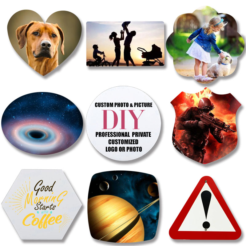 1pcs Various Shapes Personal Custom Fridge Magnet Your Family Photo Individuation DIY Glass Magnetic Refrigerator Stickers