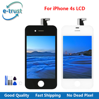 e-trust 20PCS/LOT For iPhone 4s LCD Screen Display with Digitizer Assembly Replacement + Tools Best Price Free Shipping