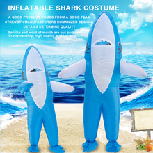 shark mascot costume  inflatable deguisement halloween pour animaux cosplay