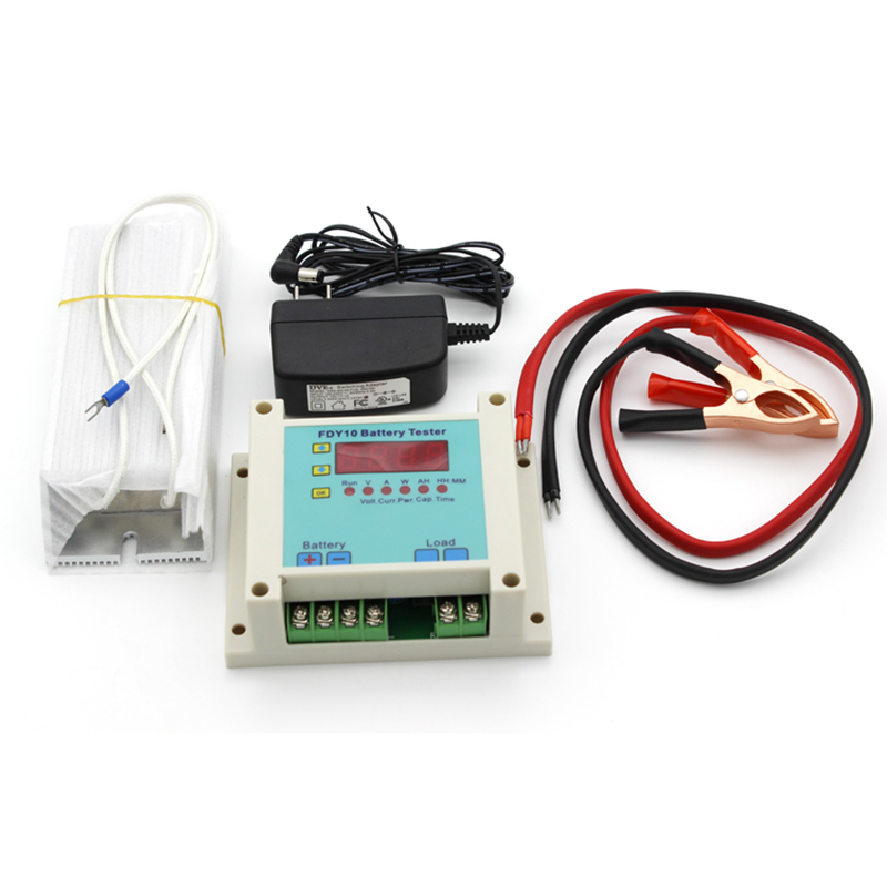 FDY10-S Universal Battery Tester Digital Discharger Battery Capacity Tester 1-20V 0.4-10A multifunction digital dual channel battery tester internal resistance tester 10 20v 0 10a charge and discharge for 18650 battery