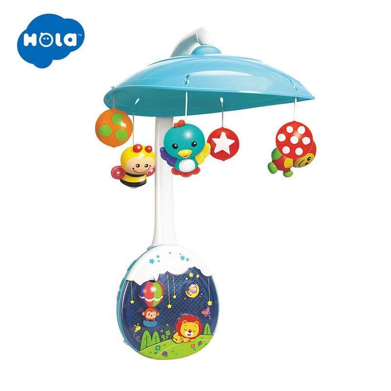 HOLA 1105 New Arrived 5 pcs set ABS Set Baby Crib Mobile Bed Bell Toy Holder