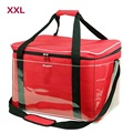 Super Large 47L Cooler Bags; Encryption 600D Oxford Cloth+PE Foam+PEAV; Red Picnic Bag Blue Lunch bag
