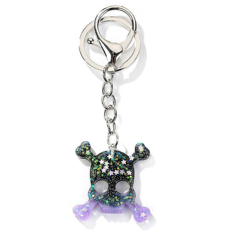 1PC Resin Bulan dan Cross Gantungan Kunci Flatback Resin Liontin Resin Gantungan Kunci untuk Wanita Perhiasan