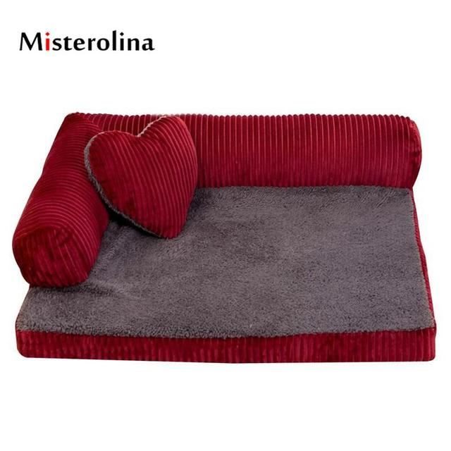Misterolina Puppy Beds For Small Dogs Sofa Sponge Pet Dog Warm At Night Cat