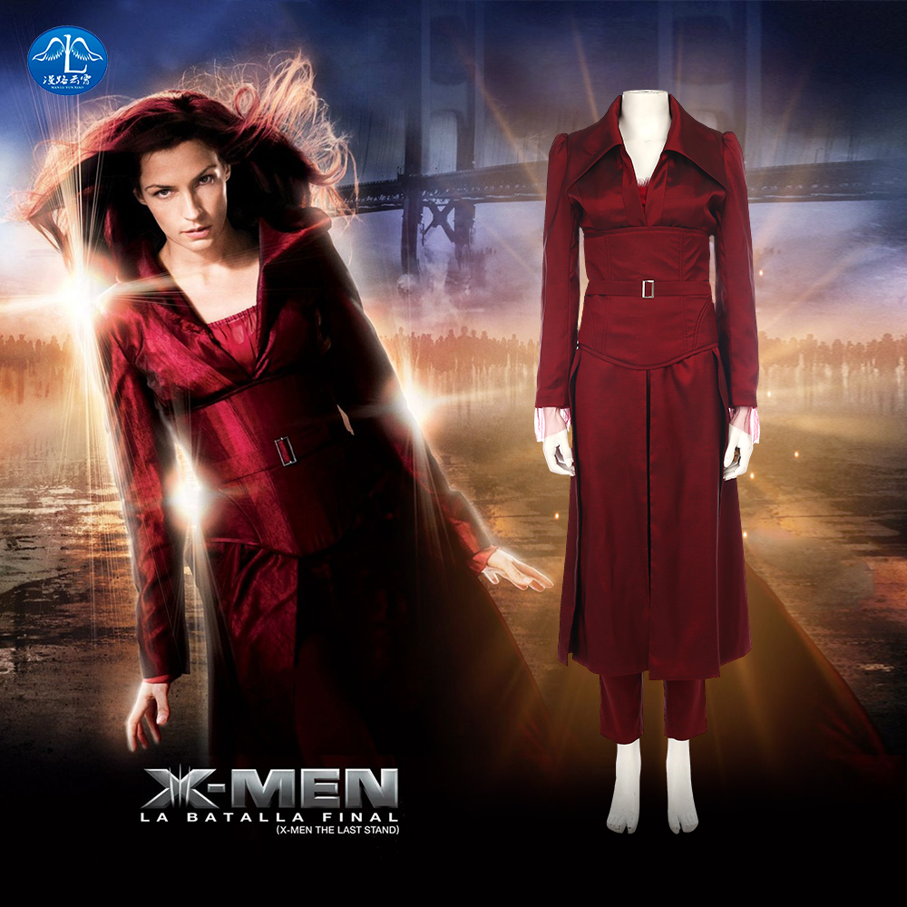 Women Phoenix Costume X-Men Days of Future Past Dark Phoenix Jean Grey Cosplay Costumes Halloween Costumes For Women Custom Made