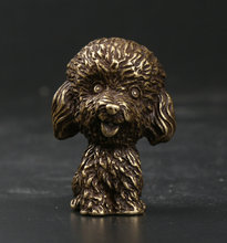 39MM/1.5Collect Curio Rare Chinese Fengshui Small Bronze Exquisite Lovely Animal 12 Zodiac Year Dog Teddy Mini Statuary 81g